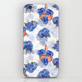 Cape Cod Hydrangeas and Baskets iPhone Skin