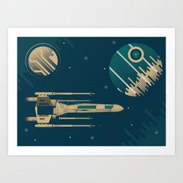 Star Wars Throwback Art Print