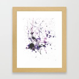 Violet Fire Framed Art Print
