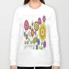 Bright Flowers Long Sleeve T-shirt