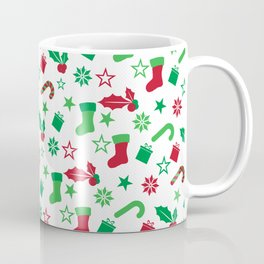 Red And Green Christmas Objects Decor Coffee Mug