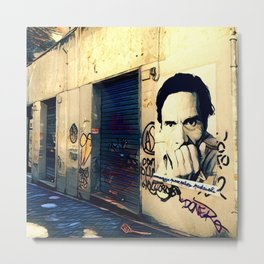 Street Art Pasolini in Rome Metal Print