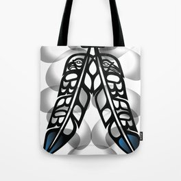 Heiltsuk Eagle & Raven Feathers Tote Bag