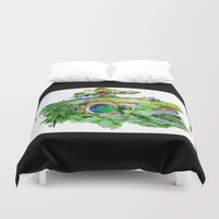 hobbit Duvet Covers featuring hobbit hole by Jonny Moochie