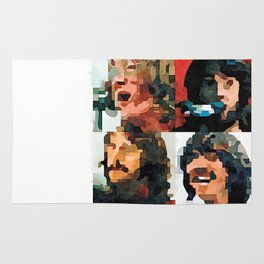 Fab Four Fan Art - Let It Be Watercolor Painting Rug