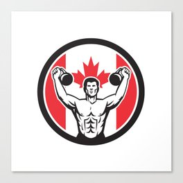Canadian Physical Fitness Canada Flag Icon Canvas Print