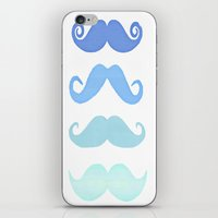 moustache iPhone & iPod Skins featuring Moustache by Amy Copp