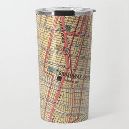 Vintage Map of New York City (1900) Travel Mug