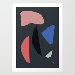 DARK PIECES Art Print