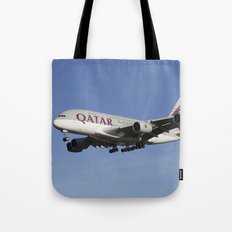 Qatar Airlines Airbus A380 Tote Bag