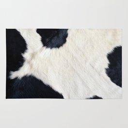 Cowhide Black and White Rug