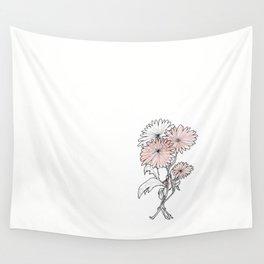 flower illustration Wall Tapestry