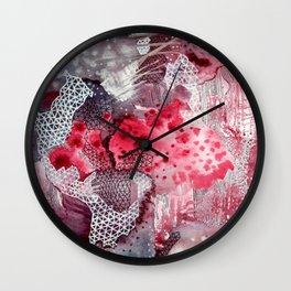 Heart Spill Wall Clock
