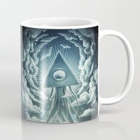 men Mugs featuring War Of The Worlds I. by Dr. Lukas Brezak