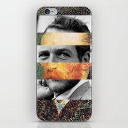 Van Gogh's Self Portrait & Paul Newman iPhone Skin