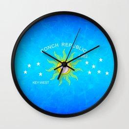 The Conch Republic Flag Wall Clock