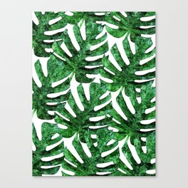Monstera Pattern V3 Oil Painting #home #fashion Canvas Print
