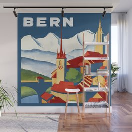 Vintage Bern Switzerland Travel Wall Mural