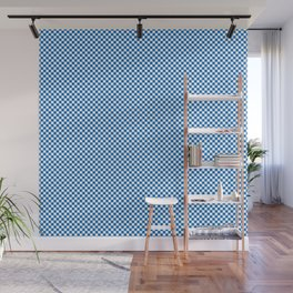 Twilight Nebulas Blue and White Mini Check 2018 Color Trends Wall Mural