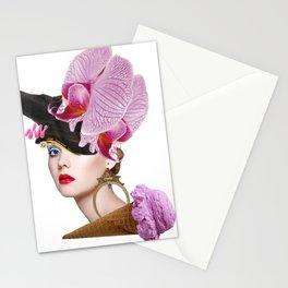 Flower Icecream by Lenka Laskoradova Stationery Cards