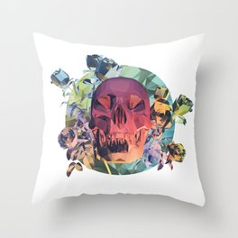 Low Poly Death Throw Pillow
