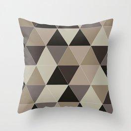 TRI BROWNISH Throw Pillow