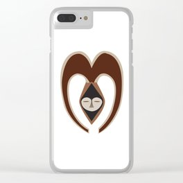 African Tribal Mask No. 10 Clear iPhone Case