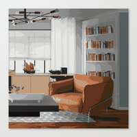 read Canvas Prints featuring Read by JuniqueStudio