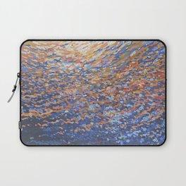Illuminated Ocean Waves at Sunset Laptop Sleeve