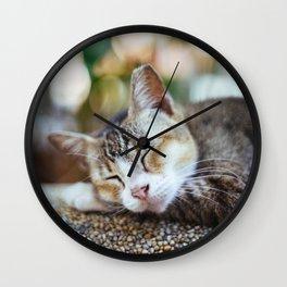 Peace Sleep Wall Clock