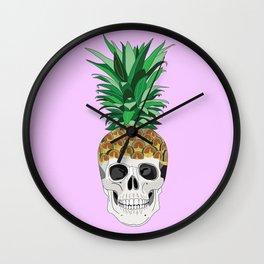 PINESKULL PINK Wall Clock