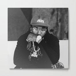 Rapper Pop Smoke Metal Print