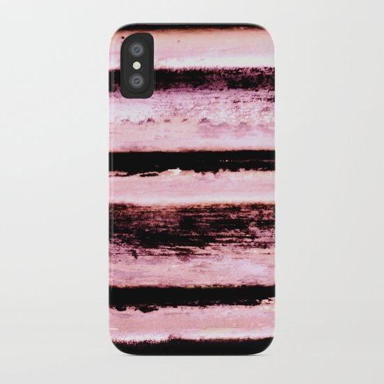 Pink Stripes iPhone Case