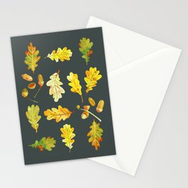 Oak Leaves and Acorns Stationery Cards