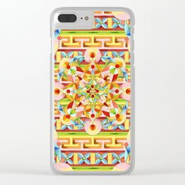 Rainbow Fiesta Clear iPhone Case