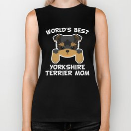 World's Best Yorkshire Terrier Mom Biker Tank