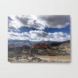 Pikes Peak in Colorado Springs Metal Print