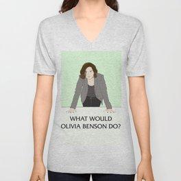 What Would Olivia Benson Do? Unisex V-Neck