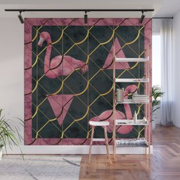 Luxurious Pink Flamingo Wall Mural