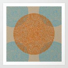 Primitive Circle Pattern Art Print