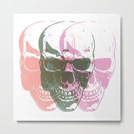 TriSkull Metal Print