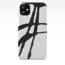 0523: a simple, bold, abstract piece in black and white by Alyssa Hamilton Art iPhone Case