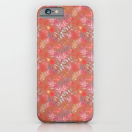 Fall Leaf Pattern iPhone Case