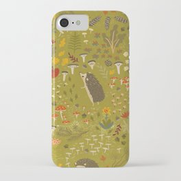 Hedgehog Meadow iPhone Case