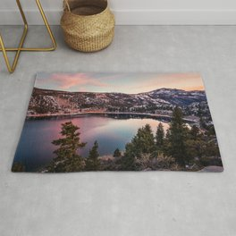 Picture California USA June Spruce Nature Lake Scenery landscape photography Rug