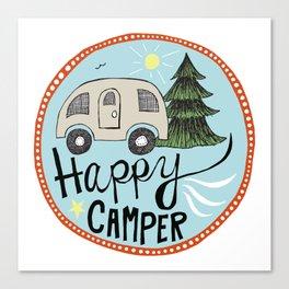 happy camper Canvas Print