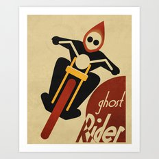 CASSANDRE SPIRIT - Ghost Rider Art Print