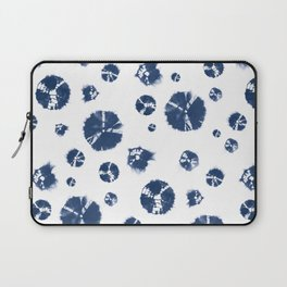Shibori Polka Splotch Indigo Blue Laptop Sleeve