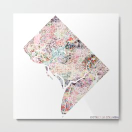 District of columbia map Metal Print