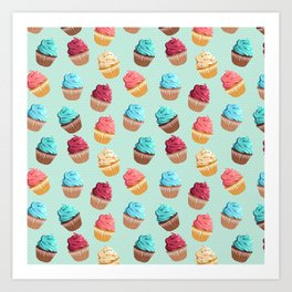 Cup Cakes Party Art Print